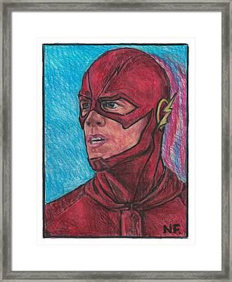 The Flash As Portrayed By Actor Grant Gustin Framed Print by Neil Feigeles