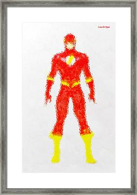 The Flash - Da Framed Print by Leonardo Digenio
