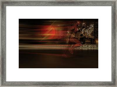Framed Print featuring the digital art The Flash  by Louis Ferreira