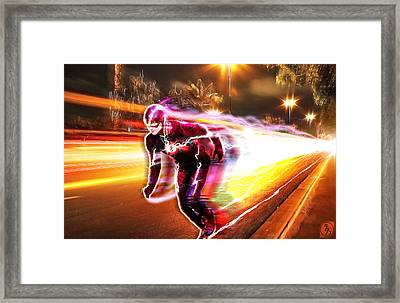 The Flash Framed Print by The DigArtisT