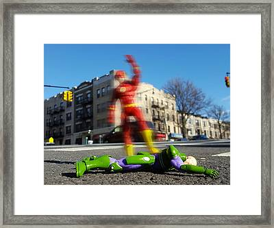 The Streak Framed Print by Leon Heart