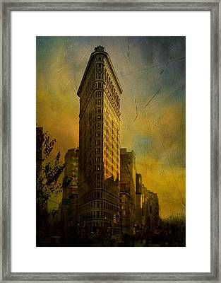The Flat Iron Building - My Take On It Framed Print by Jeff Burgess