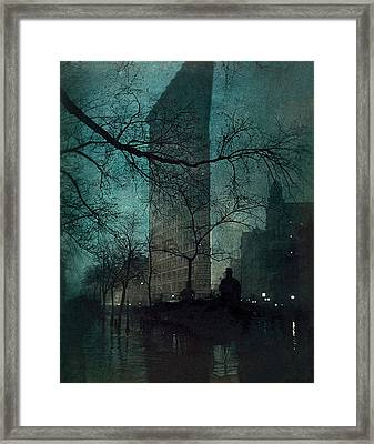 The Flatiron Building Framed Print by Edward Steichen