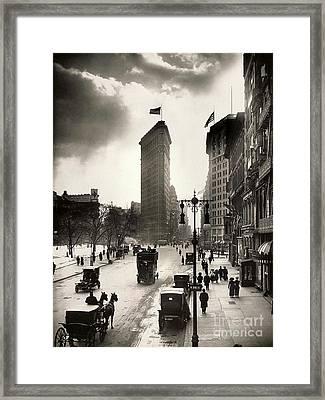 The Flatiron Building Framed Print by Jon Neidert