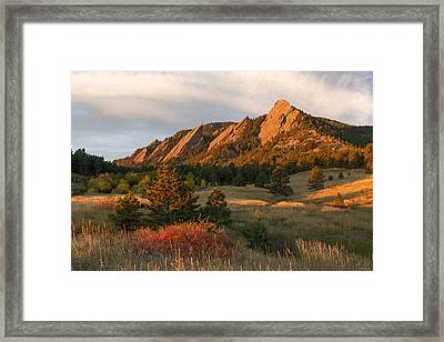 The Flatirons - Autumn Framed Print