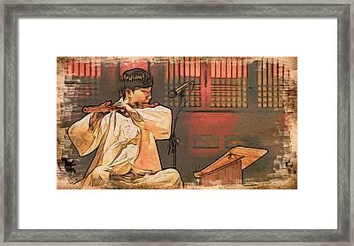 The Flautist Framed Print