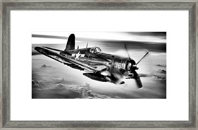 The Flight Home Bw Framed Print by JC Findley
