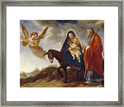 The Flight Into Egypt Framed Print by Carlo Dolci