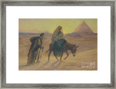 The Flight Into Egypt  Framed Print by Eugene Alexis Girardet