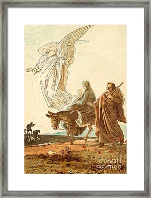 The Flight Into Egypt Framed Print by Victor Paul Mohn