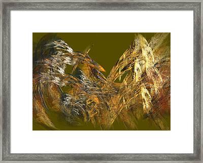 The Flight Of The Bird Framed Print by Emma Alvarez