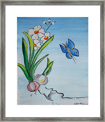 The Flight Of The Butterfly Framed Print
