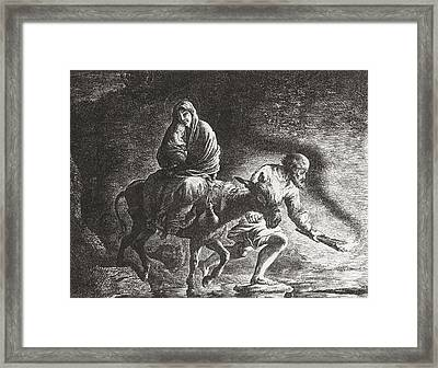 The Flight To Egypt After The Painting Framed Print by Vintage Design Pics