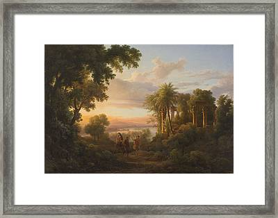 The Flight To Egypt Framed Print by MotionAge Designs