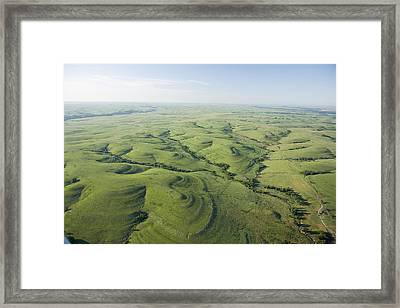 The Flint Hills Of Kansas Framed Print by Jim Richardson