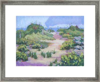The Flip-flop Path To Paradise Framed Print by Carol Strickland