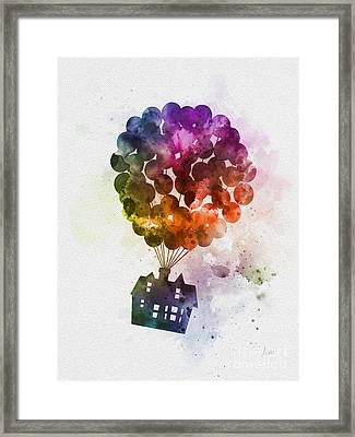 The Floating House Framed Print by Rebecca Jenkins
