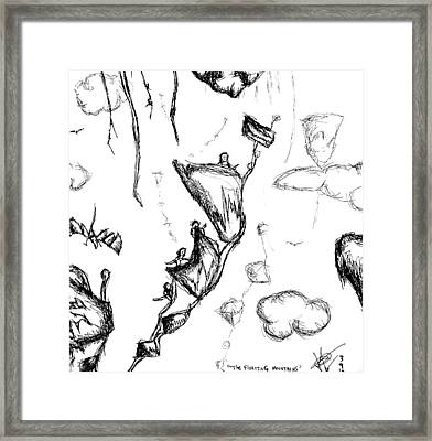 The Floating Mountains Framed Print by Jera Sky