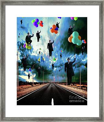 The Flock Framed Print by Andy Gii
