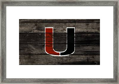 The Miami Hurricanes 3e       Framed Print
