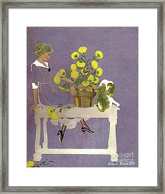The Florist Framed Print by Jerry L Barrett