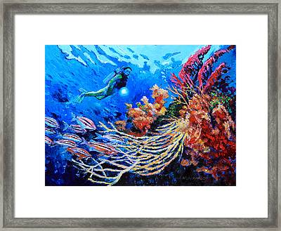 The Flow Of Creation Framed Print