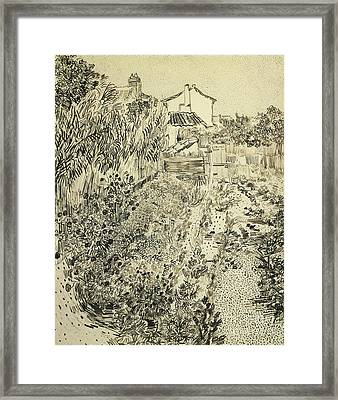 The Flower Garden, 1888 Framed Print by Vincent Van Gogh