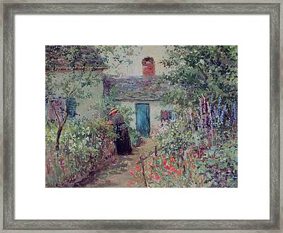 The Flower Garden Framed Print by Abbott Fuller Graves
