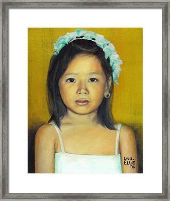 The Flower Girl Framed Print by Laurel Ellis