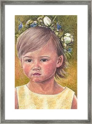 The Flower Girl Framed Print by Melissa J Szymanski