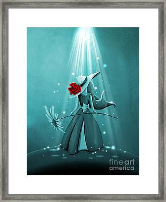 The Flower Girl - Remixed Framed Print