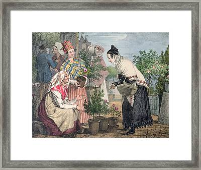 The Flower Market Framed Print by John James Chalon