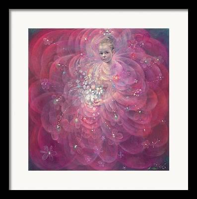 Sparkling Rose Paintings Framed Prints