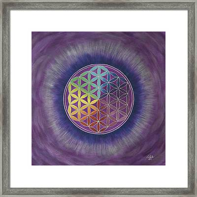 The Flower Of Life Framed Print by Silvia Flores