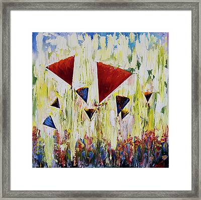 The Flower Party Framed Print
