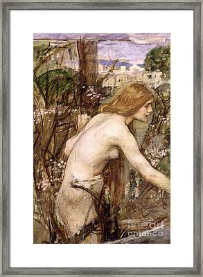 The Flower Picker  Framed Print by John William Waterhouse