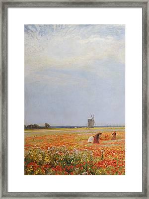 The Flower Pickers Framed Print