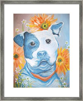 The Flower Pitt Framed Print