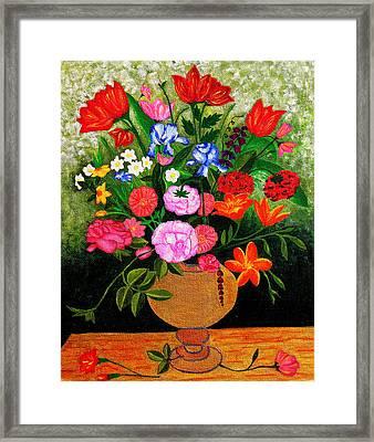 The Flower Pot Framed Print by Farah Faizal
