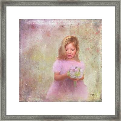 Framed Print featuring the mixed media The Flower Princess by Colleen Taylor