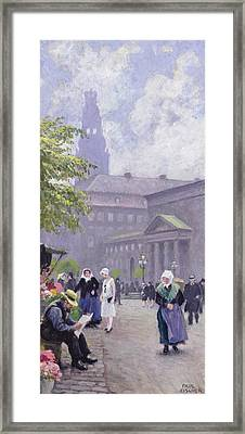 The Flower Seller Framed Print by Paul Fischer