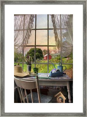 The Flower Shop 4 Framed Print by Lori Deiter