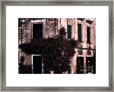 The Flower Shop Malta Framed Print