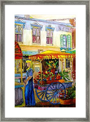 The Flowercart Framed Print
