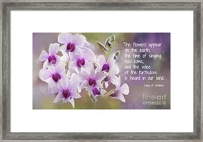 The Flowers Appear... Framed Print