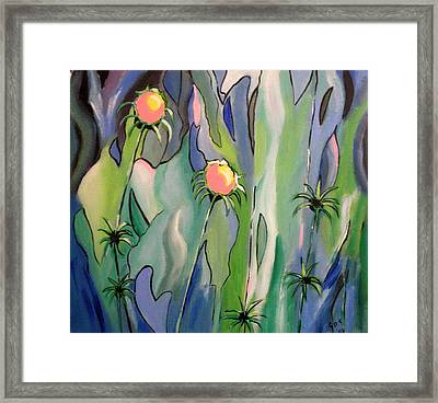 The Flowers Have It Framed Print
