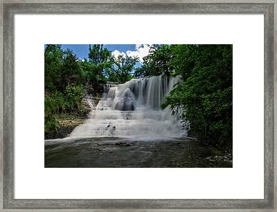 The Flowing Falls Framed Print