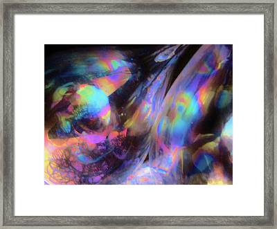 The Fluidity Of Time And Space Framed Print