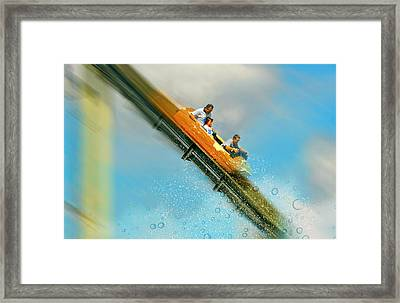 Framed Print featuring the photograph The Flume by Diana Angstadt