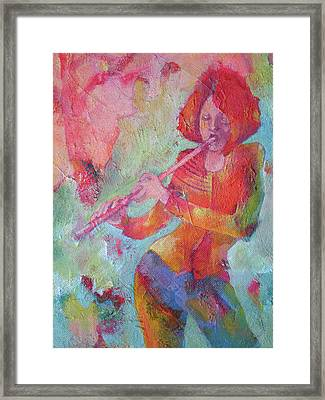 The Flute Player Framed Print by Susanne Clark